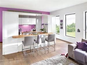 beau decoration salon avec cuisine ouverte avec idee With idee deco cuisine avec deco scandinave salon