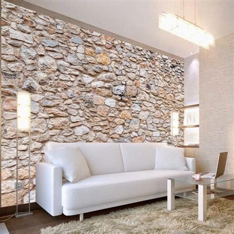 Papier peint imitation pierres déco murale pas cher