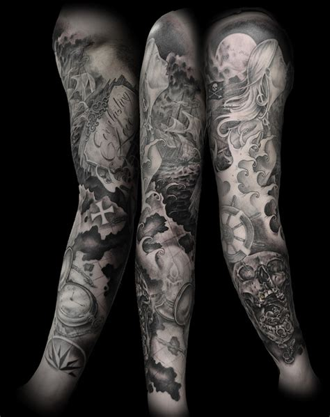 Full Sleeve Tattoo Skull Design Tattoosdesign