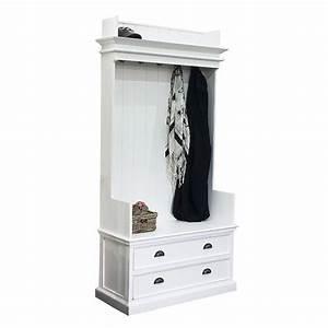 vestiaire torini acajou meuble d39entree bois massif With porte d entrée alu avec meuble vasque salle de bain bois massif