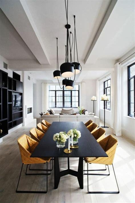 table cuisine moderne design lustre moderne salle a manger 12 lustres noires de