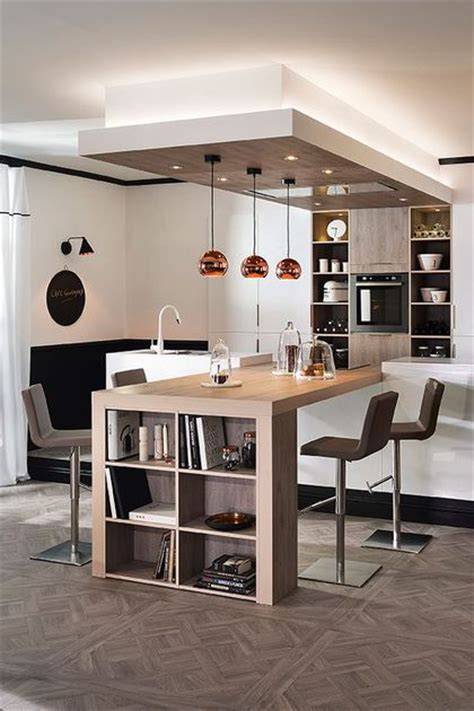 cuisine inox et bois cuisine ouverte sur salon 20 exemples inspirants côté