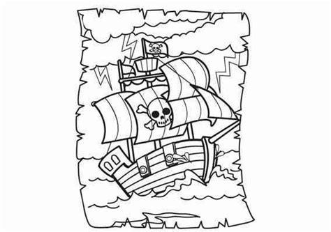 Kleurplaat Piraten Schatkaart by Gratis Piraten Kleurplaat Schatkaart Met Piratenboot