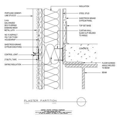 usg design studio steel stud framing details