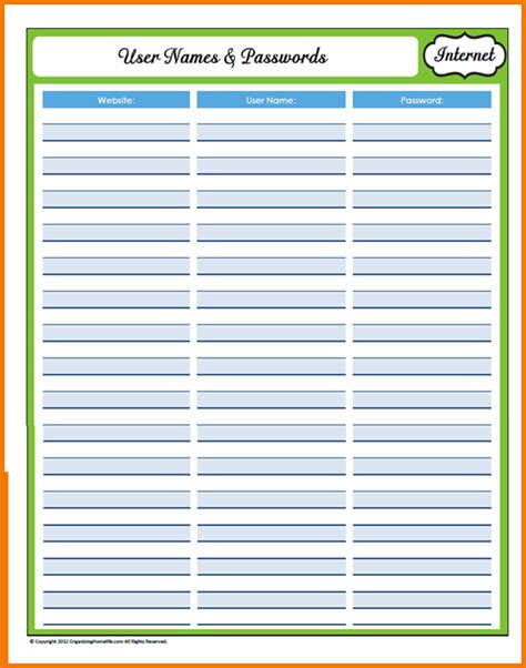 password list password list template authorization letter pdf