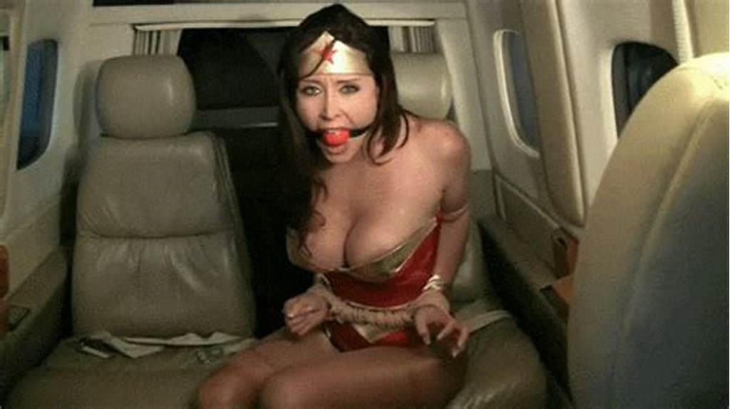 #Bondage #Girl #Wearing #Wonder #Woman #Costume #3833