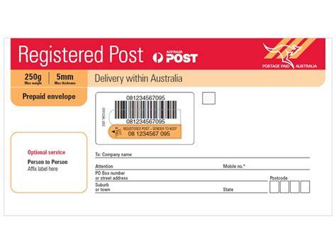 registered post dl prepaid envelope pack