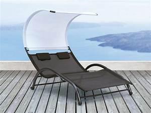 Bain De Soleil En Aluminium : bain de soleil sumbawa double en aluminium et textil ne ~ Teatrodelosmanantiales.com Idées de Décoration