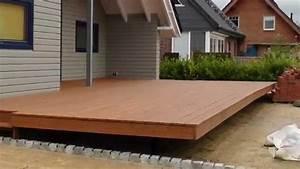Schwebende larchen holzterrasse selber bauen for Holz terrasse