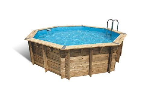 piscine bois octogonale emeraude 430 x 120 cm maison loisirs e leclerc