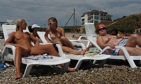 Nude Beach Lounge Spread April Voyeur Web Hall