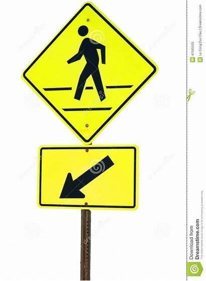 Sign Crosswalk Walking Yellow Background Flash