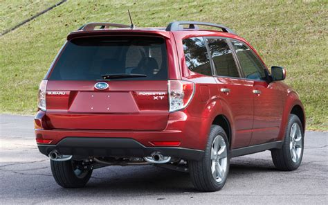 subaru forester red 2009 subaru forester xt red rear photo 2