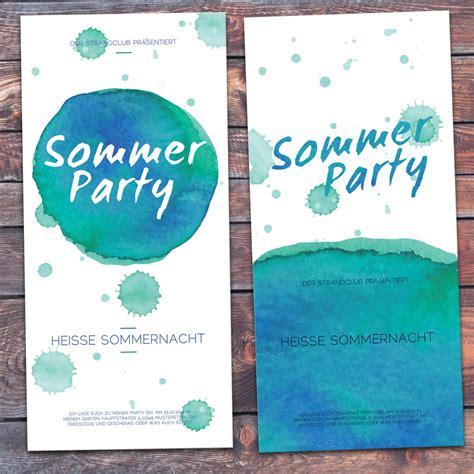 einladungskarte sommerparty eigenbaudesign