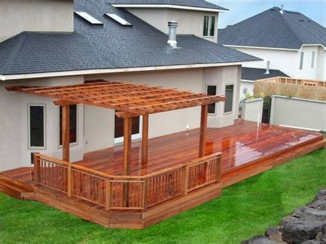 half covered patio half covered and half railed its nice decks pinterest nice decking and backyard