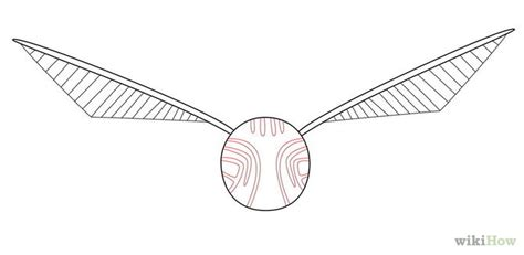How To Draw Harry Potter Golden Snitch Sketch Coloring Page