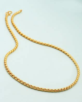 buy mens yellow gold chain  snake pattern  india