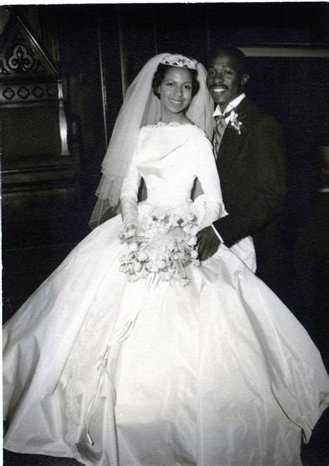 Old Photo Of African American Couples Wedding Picture