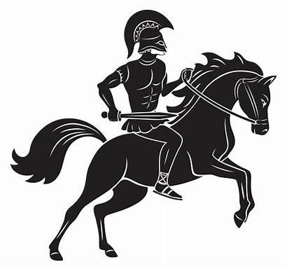 Horse Gladiator Icon Greek Mythology Perseus Vector