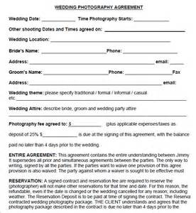 wedding photography contract photography contract 7 free pdf sle templates