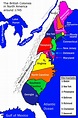 New France and the 13 Colonies around 1745 – Societies and ...