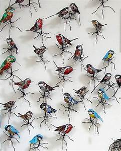 25 best ideas about scrap metal art on pinterest metal With birds made from recycled metal scraps by barbara franc
