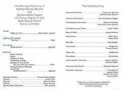 catholic wedding program templates with mass wedding renewal ceremony programs