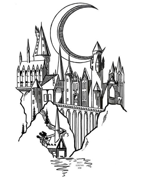 harry potter disegni piccoli hogwarts draw 2 disegno arte tatuaggi e disegni a matita