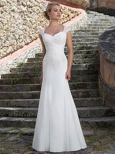 sincerity 3903 queen anne slim a line bridal dress With queen anne wedding dress