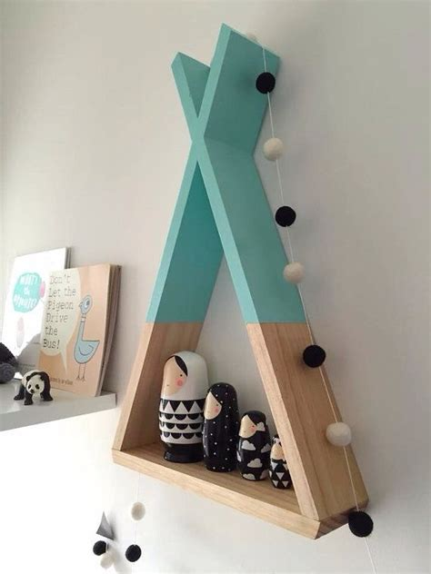 etagere chambre teepee shelf mint shelves woodland nursery decor tribal