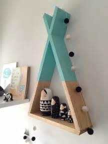 etagere chambre teepee shelf mint shelves woodland nursery decor tribal