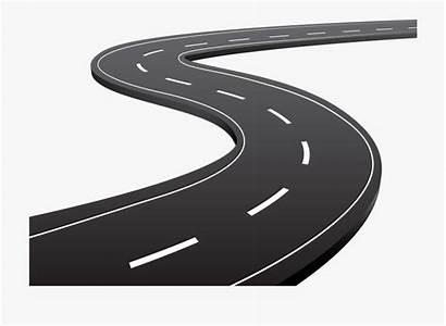 Road Clip Clipart Highway Tar Cartoon Transparent