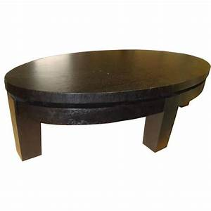 oval rift oak coffee table for sale at 1stdibs With oak coffee tables for sale