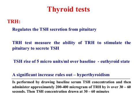 thyroid test tsh range thyroid function tests