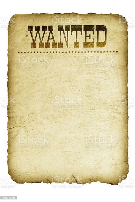 Template Graphic Of A Vintage Wanted Poster From Wild West ...