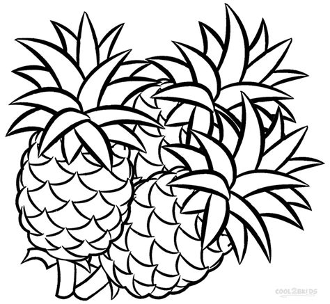 pineapple coloring pages    print