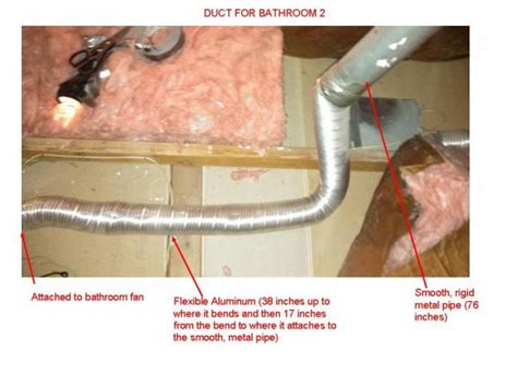 bathroom exhaust fan duct size bathroom vent duct size does code allow 2 bathroom fans
