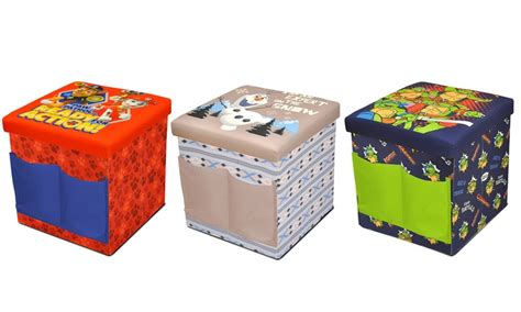 sit and store ottoman kids 39 sit and store folding character ottomans groupon