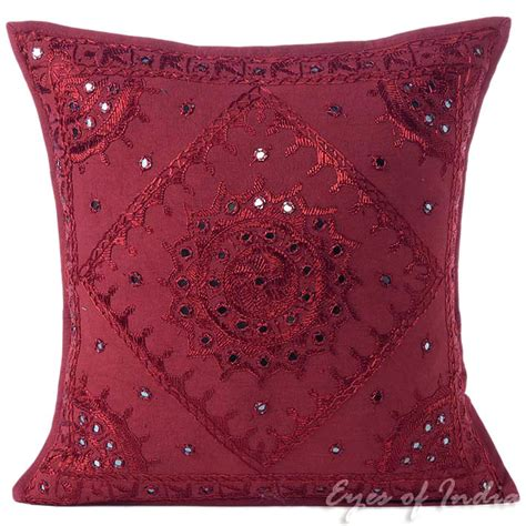 Burgundy Sofa Pillows by Burgundy Mirror Embroidered Colorful Decorative Sofa
