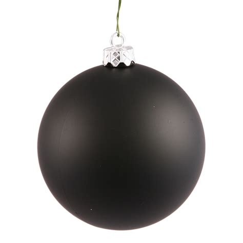shatterproof matte jet black christmas ball ornament 4
