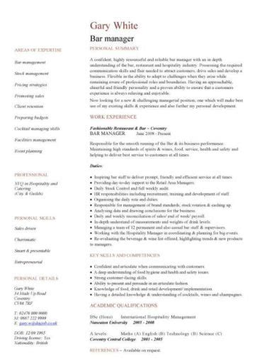 Staff Cv Template by Hospitality Cv Templates Free Downloadable Hotel
