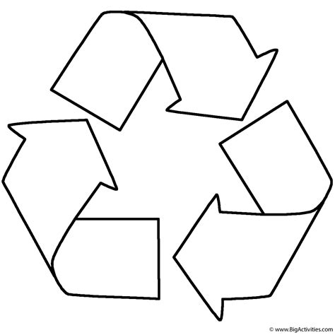 recycle coloring page earth day