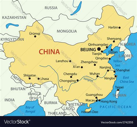 peoples republic  china map royalty  vector image