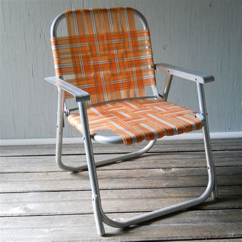 Vintage Webbed Lawn Chairs by Vintage Folding Lawn Chair Child S Aluminum By