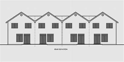 Plans Wide Narrow Row Townhouse Ft Plex