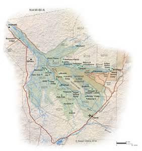 Map of Africa Okavango Delta Botswana