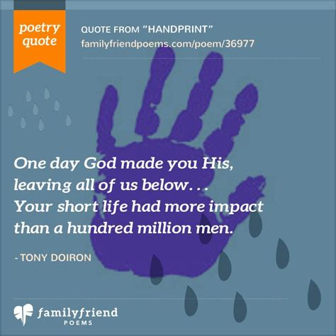 poem  losing young daughter handprint