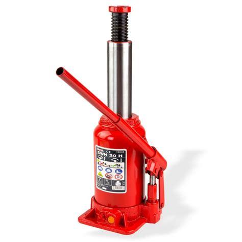 cric hydraulique bouteille cric bouteille hydraulique 20 t hauteur maxi 465 mm levage traction
