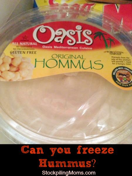 can you freeze hummus can you freeze hummus