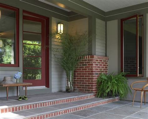 exterior paint colors with red brick trim home design